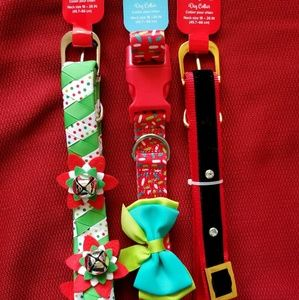 Super cute holiday dog collars